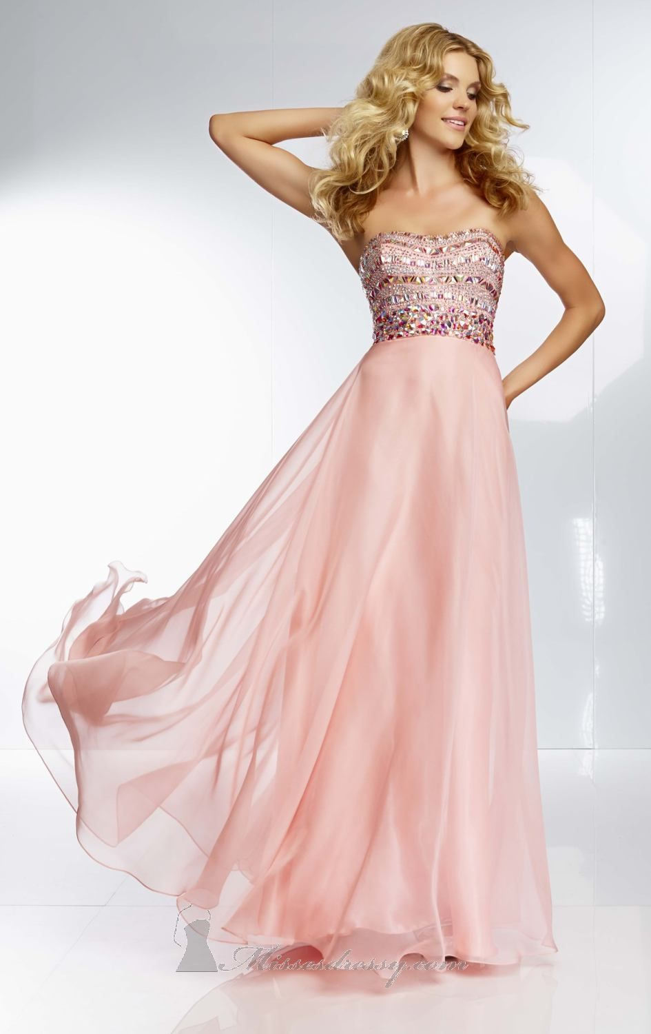 Strapless Chiffon Gown by Paparazzi by Mori Lee | Pinterest