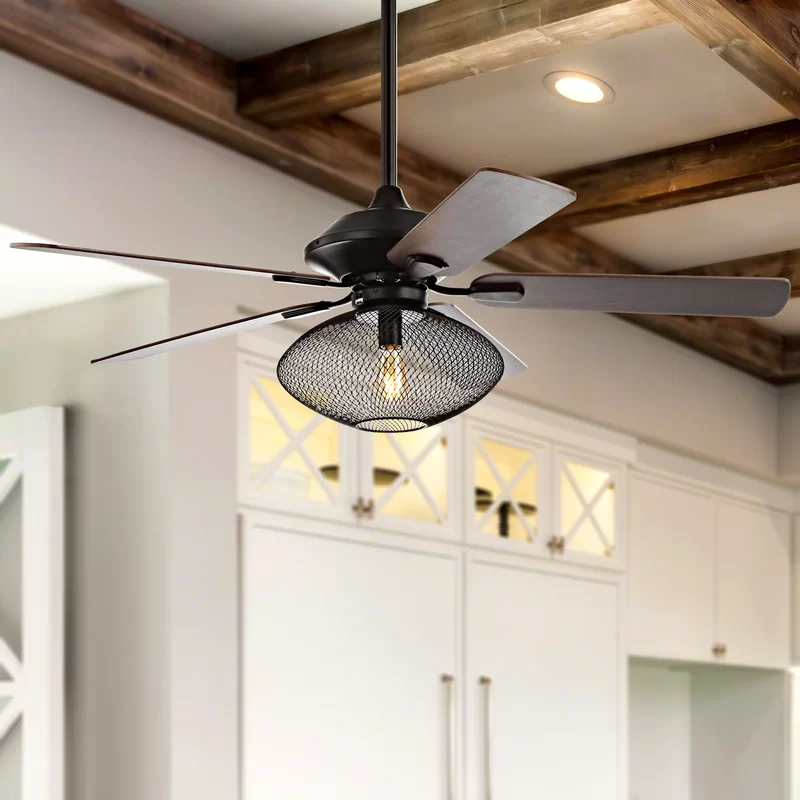 52 Vargas 1 Light Mid Century Ceiling Fan With Remote Oil Rubbed Bronze Ceiling Fan With Remote Ceiling Fan Led Ceiling Fan