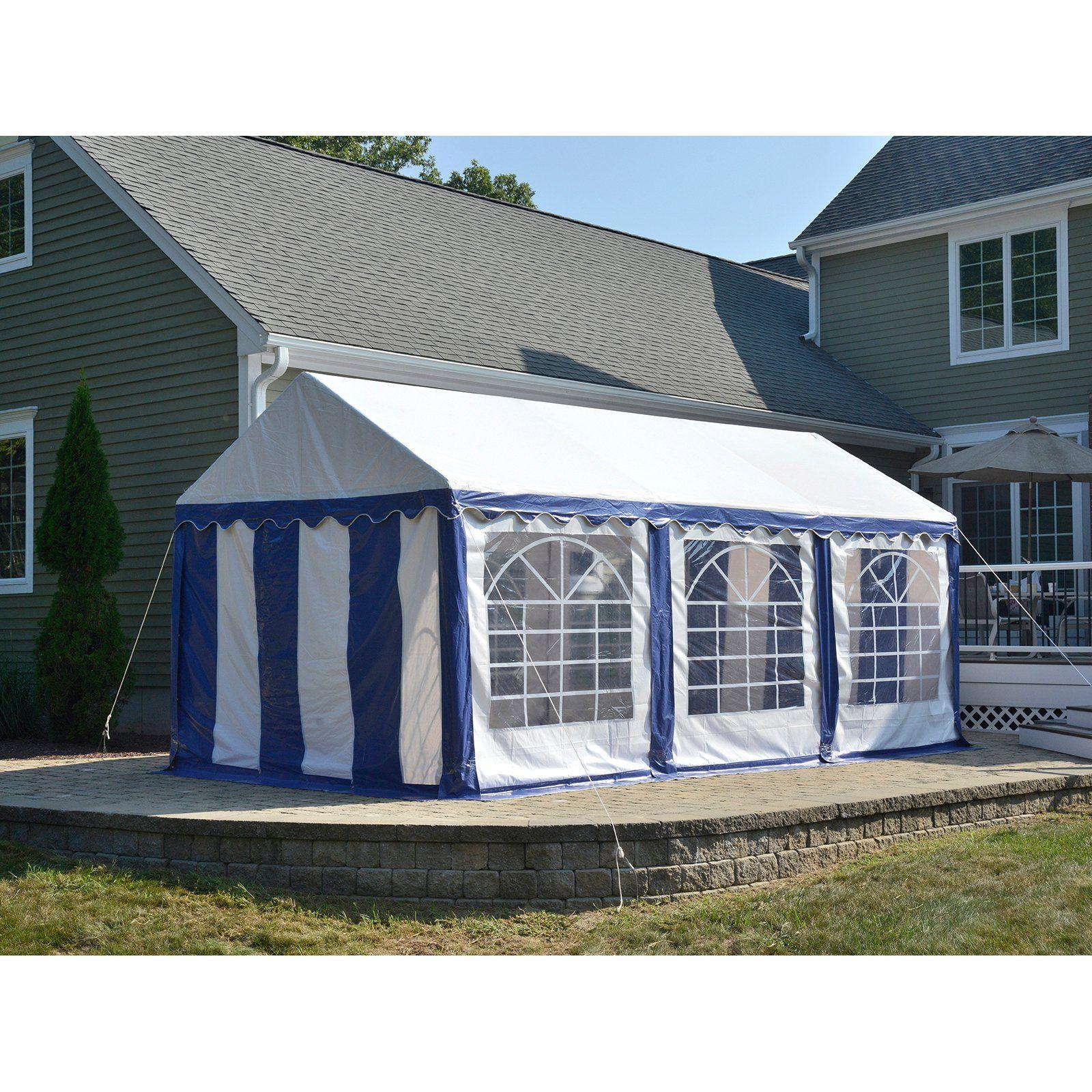 ShelterLogic 10 x 20 ft. Enclosure Kit with Windows Blue ...