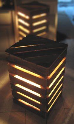 Eco-Design : luminaires et meubles en palettes | Palette, Luminaires ...