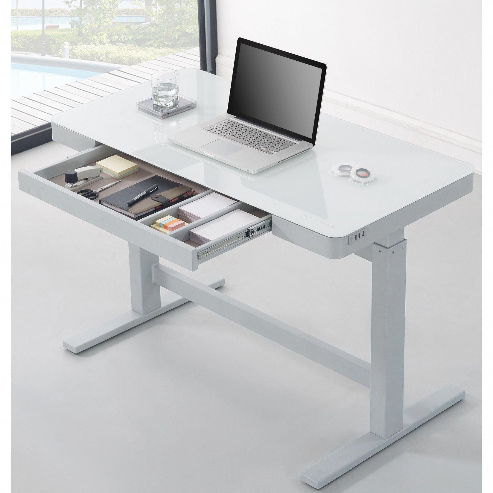 Shop Wayfair For All The Best Desks Enjoy Free Shipping On Most Stuff Even Big Stuff Hom Standing Desk Office Home Office Furniture Adjustable Office Desks