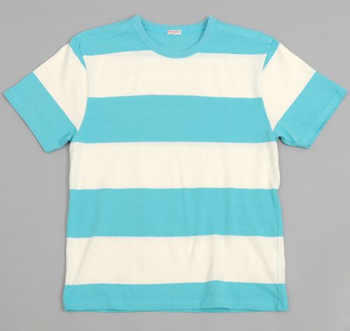 WIDE BORDER STRIPE T-SHIRT, SKY BLUE / WHITE on Pinterest ...