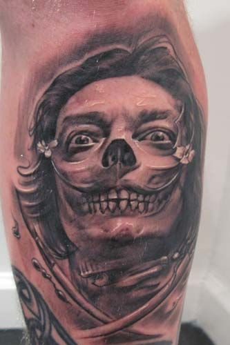Scary Death Face Tattoo Design Ideas - http://tattooideastrend.com/scary-death-face-tattoo-design-ideas/ -