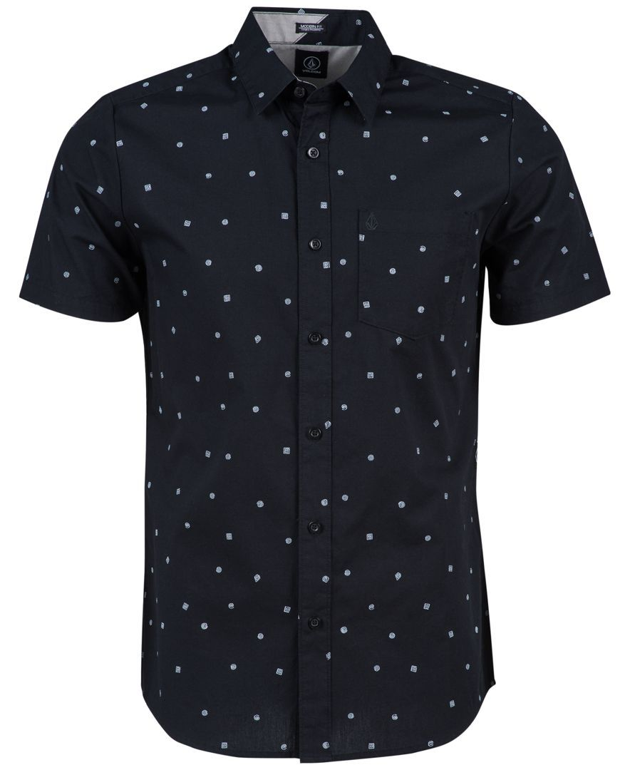 Volcom Men's Royal Flush Geometric Short-Sleeve Shirt … | Pinteres…