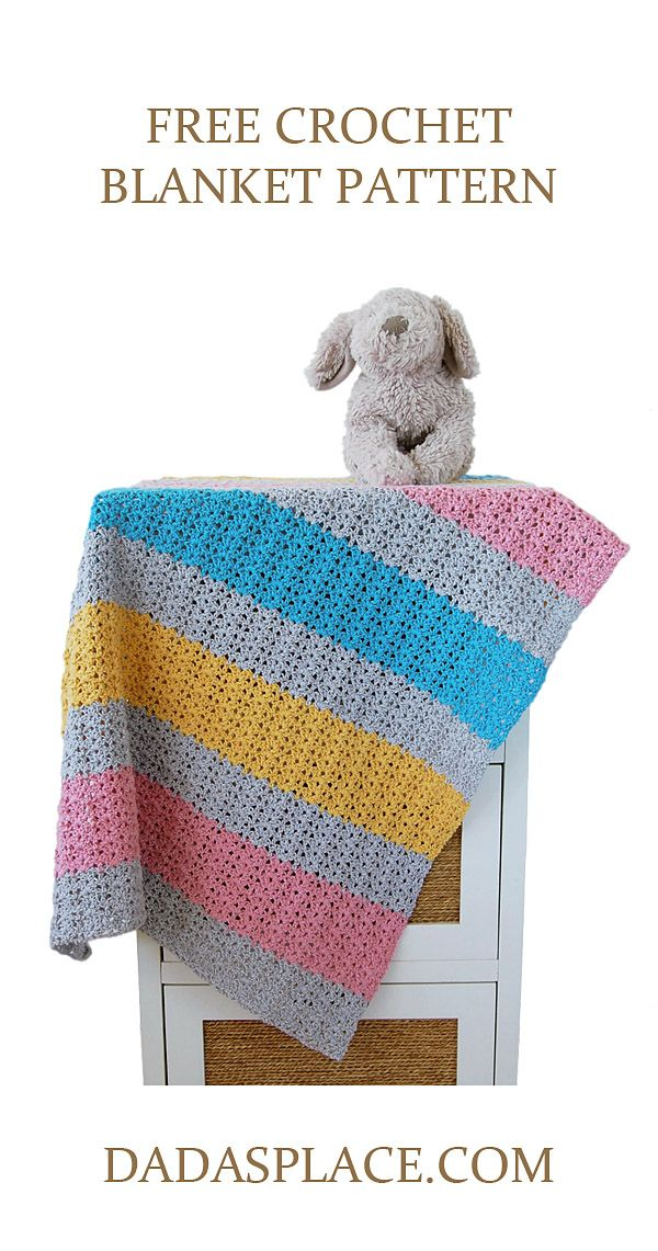 Free Crochet Pattern: Lily Blanket by Dada's place