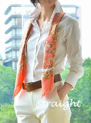 骨格診断ストレート ウェーブ ナチュラル タイプ別シルクスカーフの巻き方選び方 スカーフの巻き方 スタイル ファッションスタイル