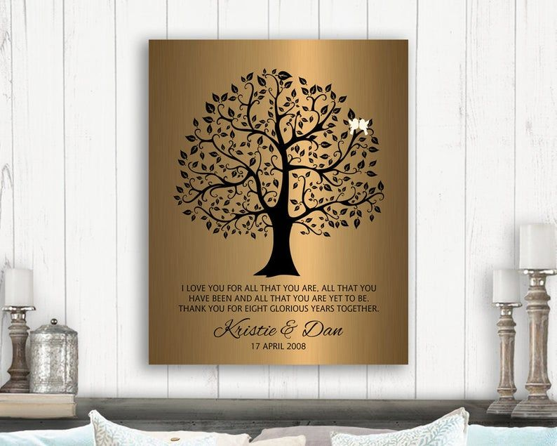8 year anniversary gift ideas personalized gift wedding