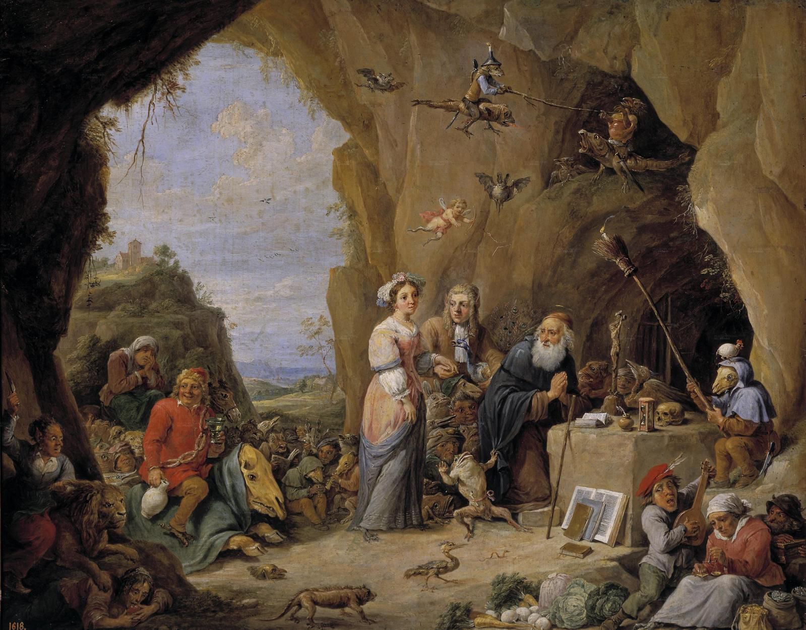 The Temptation of St. Anthony by David Teniers the Younger (1647)