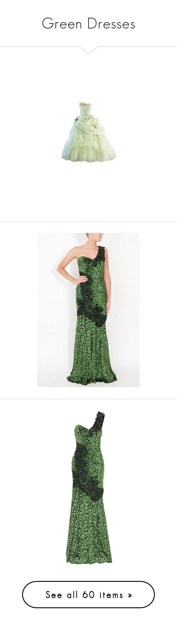 Green dress one shoulder  Green Dresses