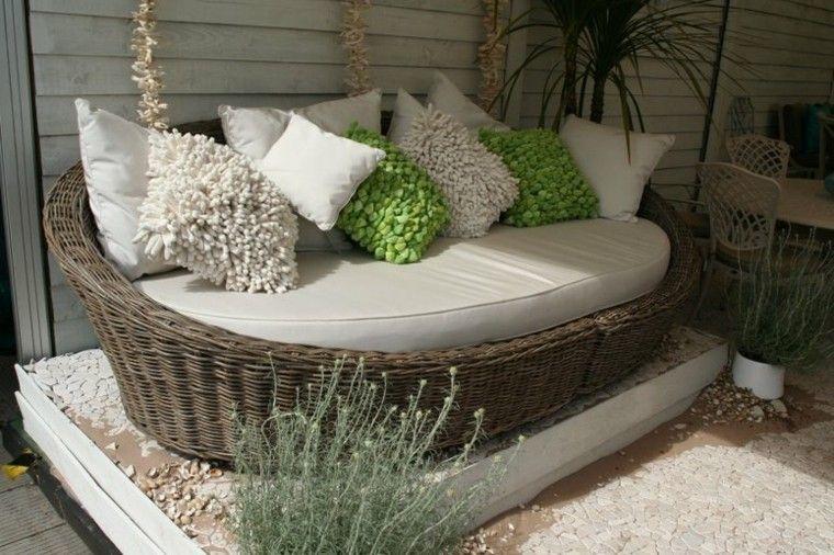 Mimbre y rattan para los muebles de jardín - 100 ideas ...