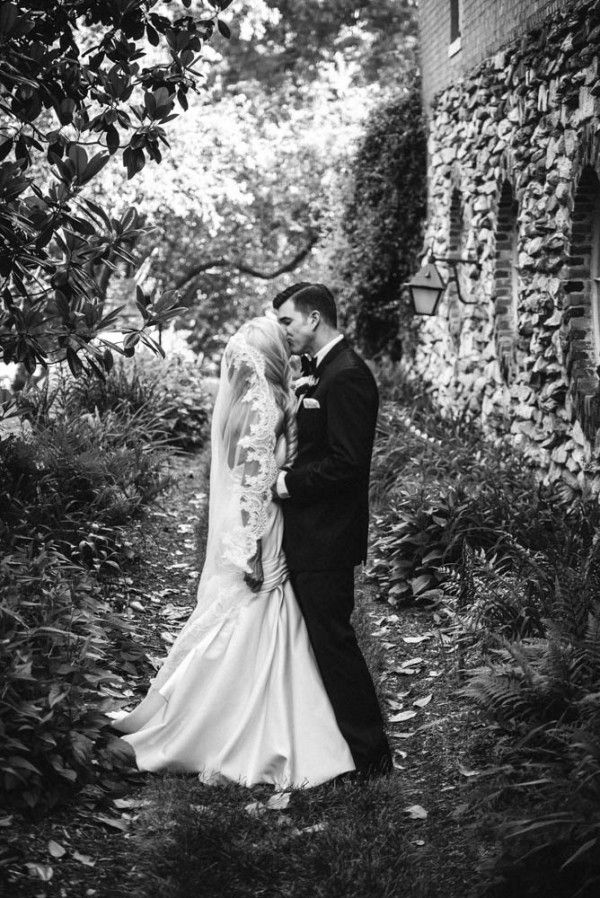Gorgeous garden wedding portrait by Vesic Photography