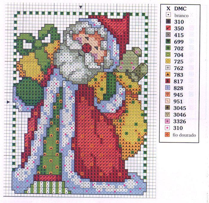 Free Cross Stitch Pattern - Santa Claus | ! a X-Stitch
