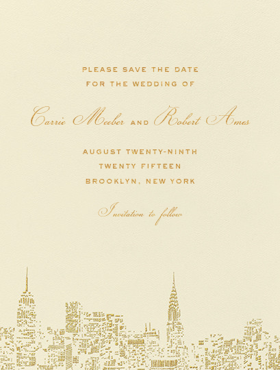 city lights i save the date online at paperless post wedding
