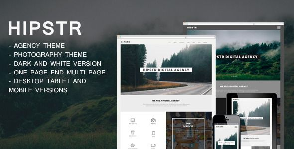 HIPSTR-One&Multi Page  Agency Portfolio by BSVIT Template