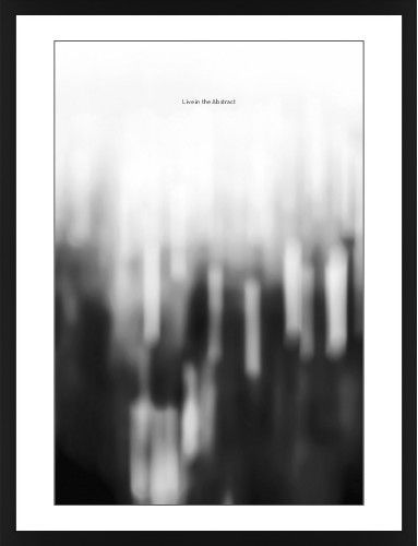 Black and white bokeh framed print black contemporary black white single