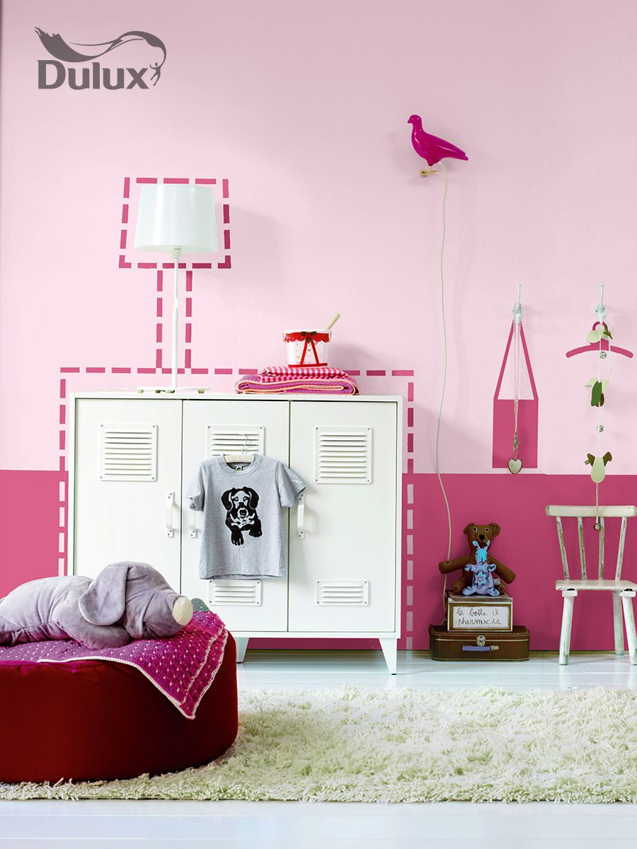 Dulux let 39 s colour kids room pink girl kids room for Dulux childrens bedroom ideas