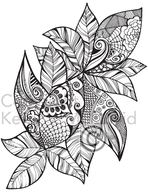 decorative leaf ornament mandala pattern