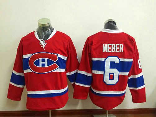 83e8561d4 Mens Ice Hockey Shirts Montreal Canadiens   6 Shea Weber Red Stitched NHL  Jersey