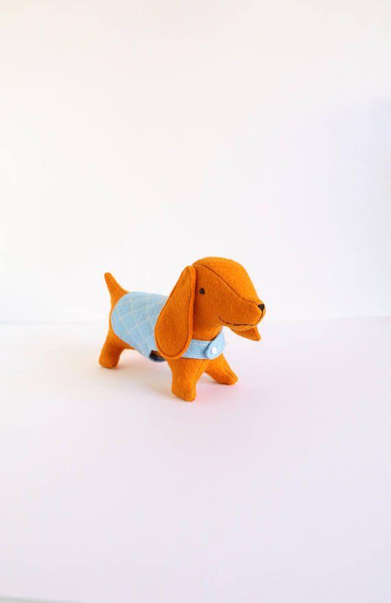 Albie sausage dog wiener dog toy dog PDF dog sewing | soft toys ...