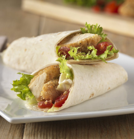 Southern Fried Chicken Style Escalope Wrap Recipe from Quorn
