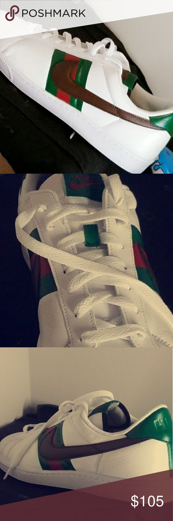 d4bbff61b8e Gucci ? nike custom men Nike gucci custom with leather paint brand new  never worn Gucci Shoes Sneakers