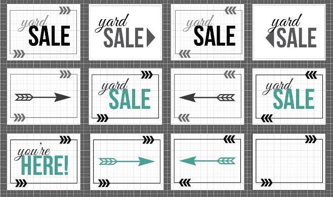 free yard sale sign printables at diy printables pinterest