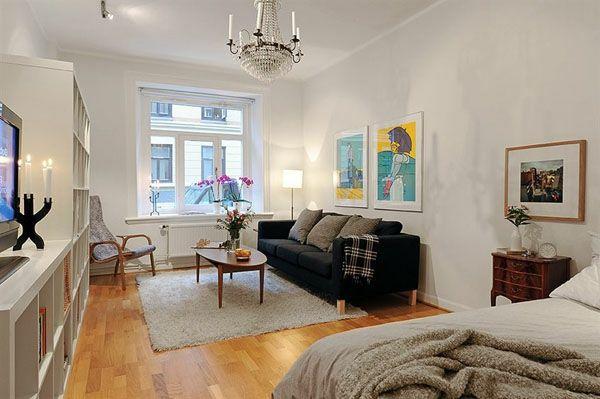 einzimmerwohnung-einrichten-auffällige-gestaltung | home | Pinterest ...