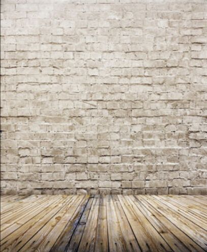 Vinyl Photography Backdrop Brick Wall And Wood Floor Scene