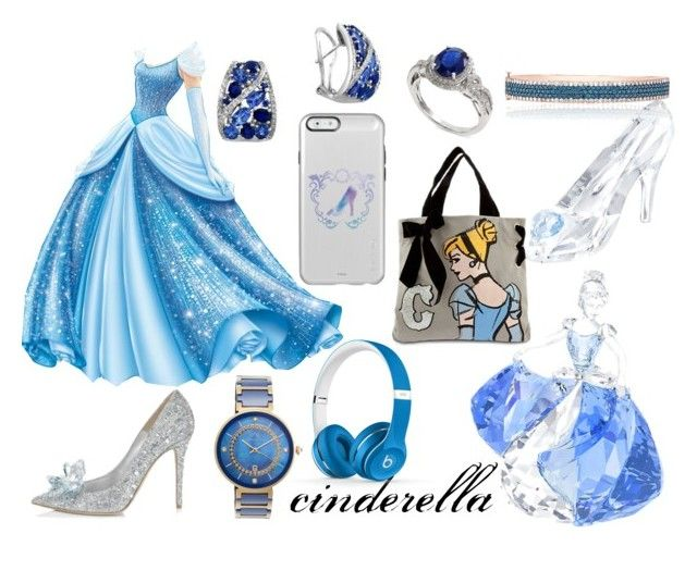 cinderella look by cherlinanelemans on Polyvore featuring Porsamo Bleu, Effy Jewelry, Beats by Dr. Dre, Swarovski and Disney