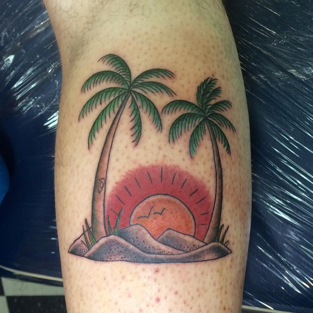 50 Superb Palm Tree Tattoo Designs and Meaning Check more