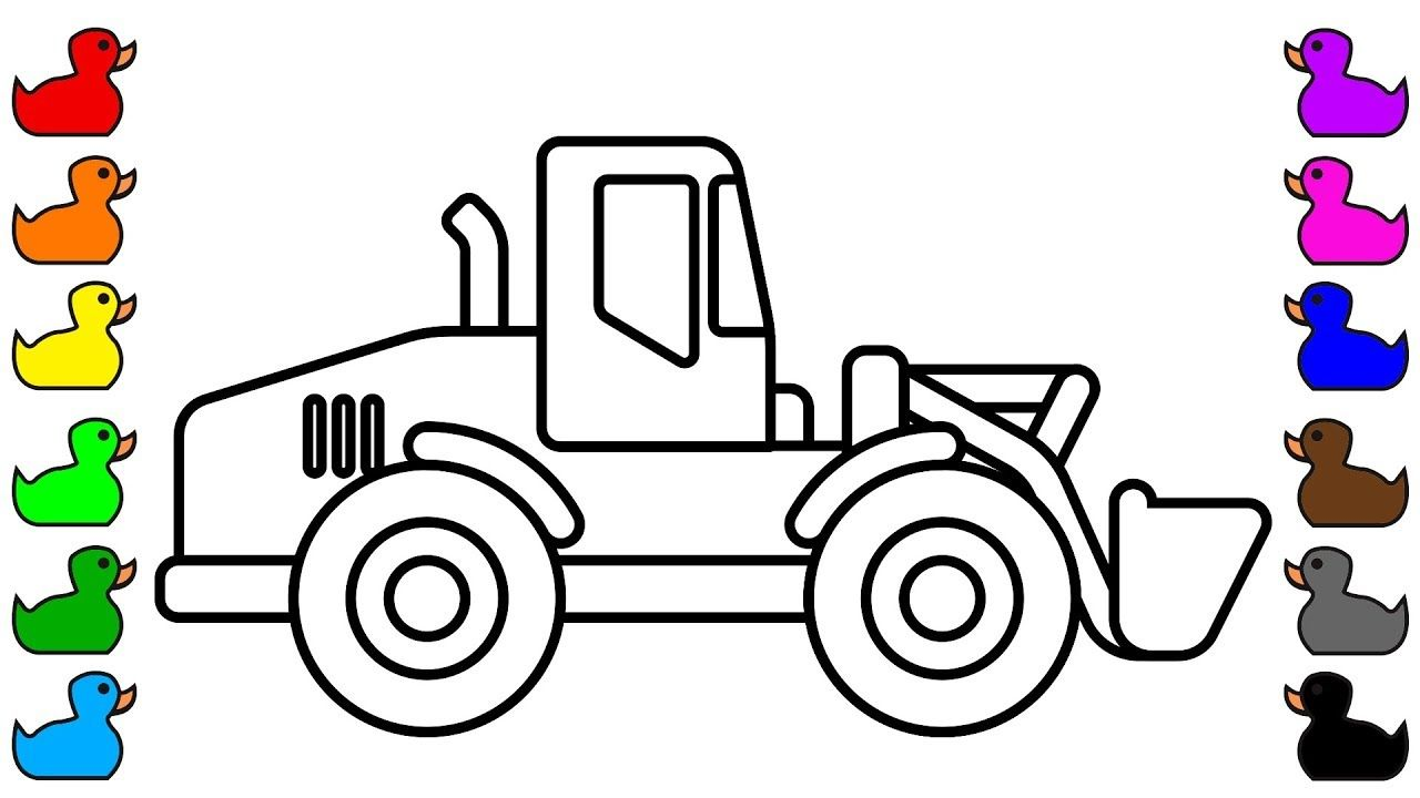 Bulldozer Colouring Pages For Kids Construction Truck Colouring