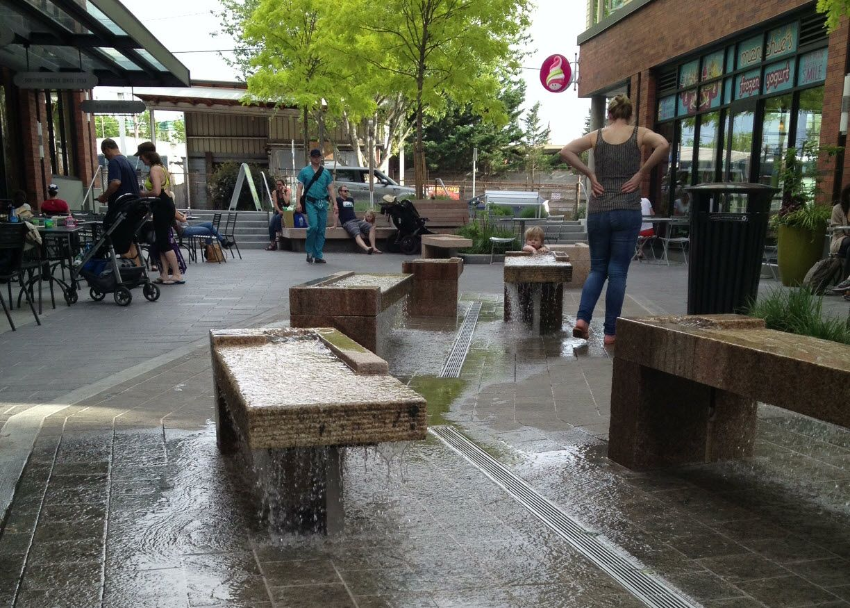 Image Result For Small Urban Plaza Water Feature Landscape Pool And Water Feature Spray Park Water Features Fountain Park