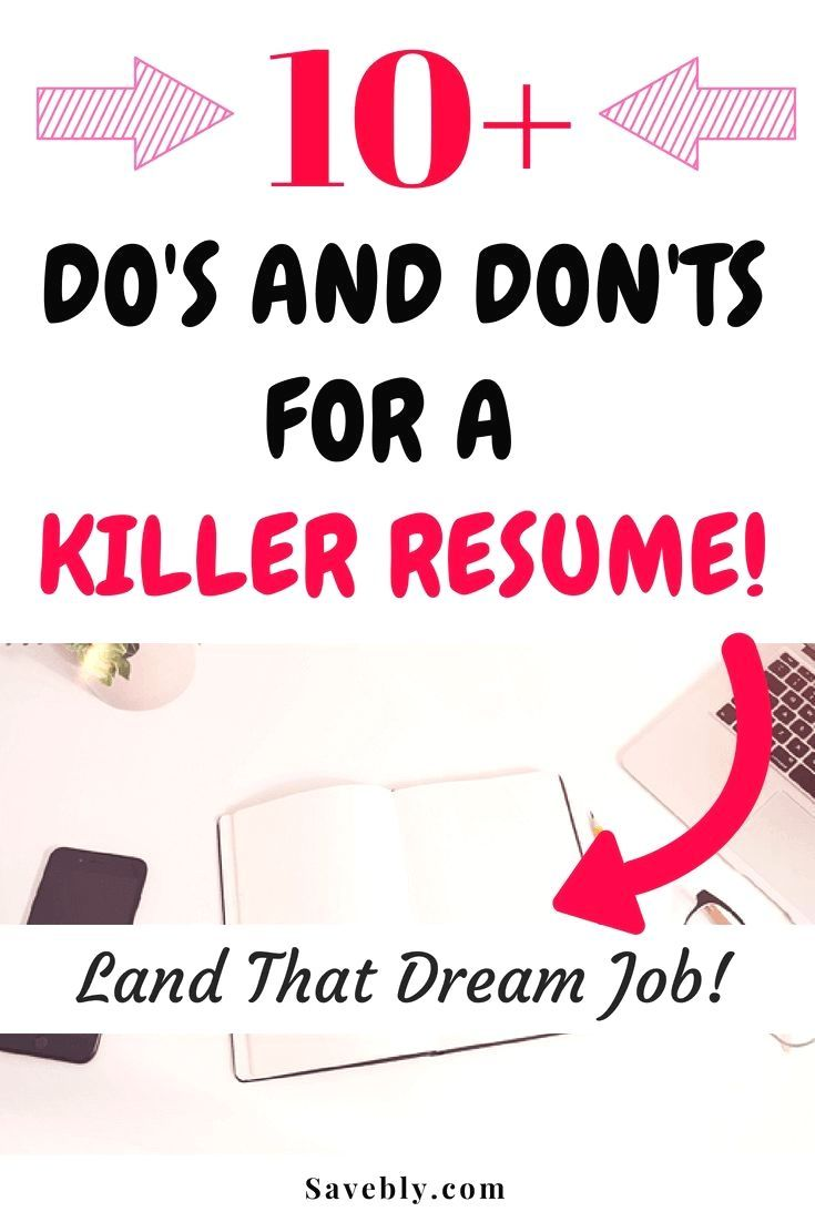 Do's And Don'ts For A Killer Resume  Land that Dream Job! - Resume tips, Job interview tips, Resume, Career advice, Job interview questions, Writing tips - If you want to land that dream job then you better make sure you have a killer resume to speak for you! A killer resume is so important, so let's go over