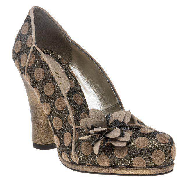 Ruby Shoo Hera Ochre Check Open Toe Block Heel Bar Sandals