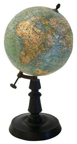 Authenticity really does matter! 1920's vintage French table globe.