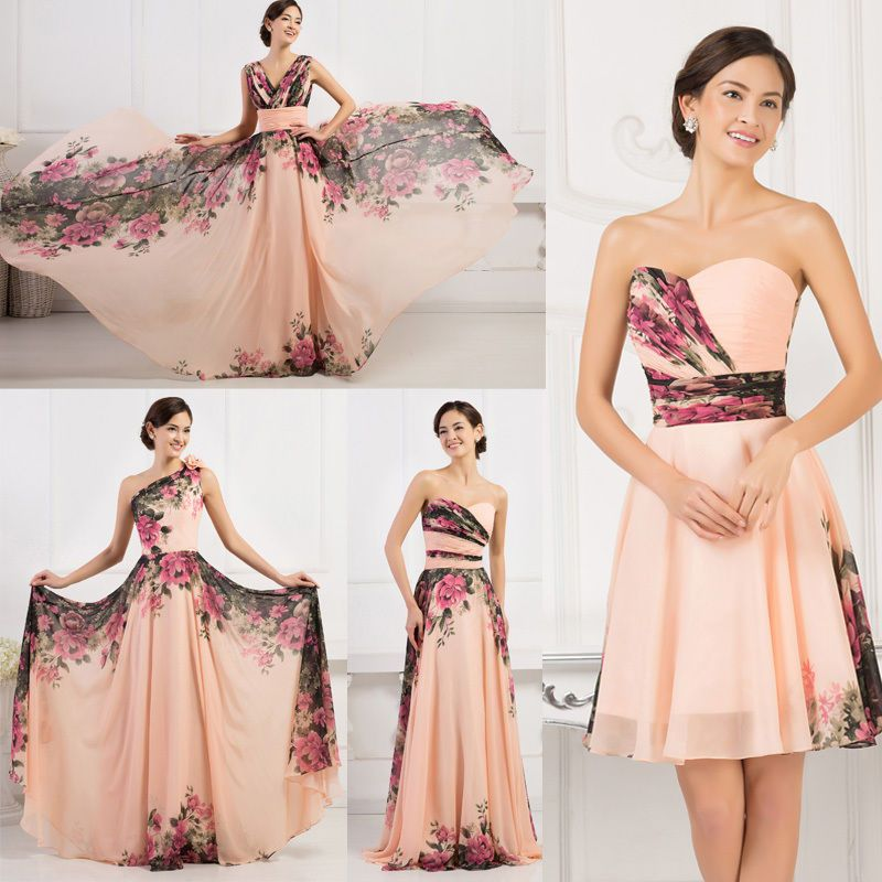 PLUS SZ Long Formal Wedding Evening COCKTAIL Party Prom Bridesmaid Skater Dress