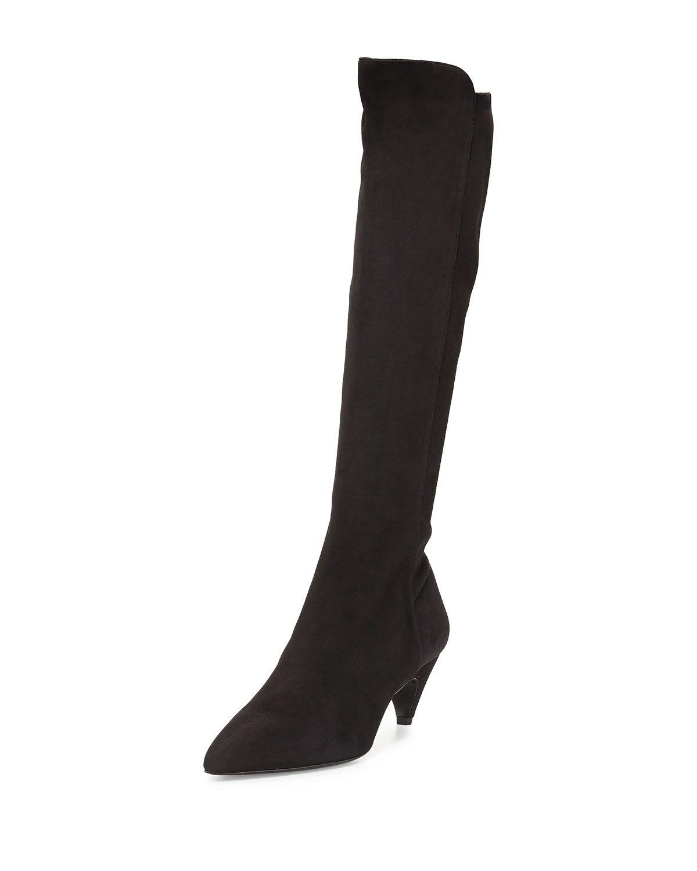 Precio De Descuento Precio Increíble Para La Venta Prada mid-heel knee boots - Nero Envío Bajo Precio Barato El Mayor Proveedor En Línea Nq2ri