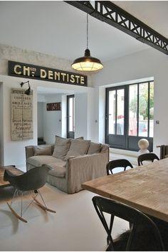 poutre m tallique en bois mobilier industriel pinte. Black Bedroom Furniture Sets. Home Design Ideas