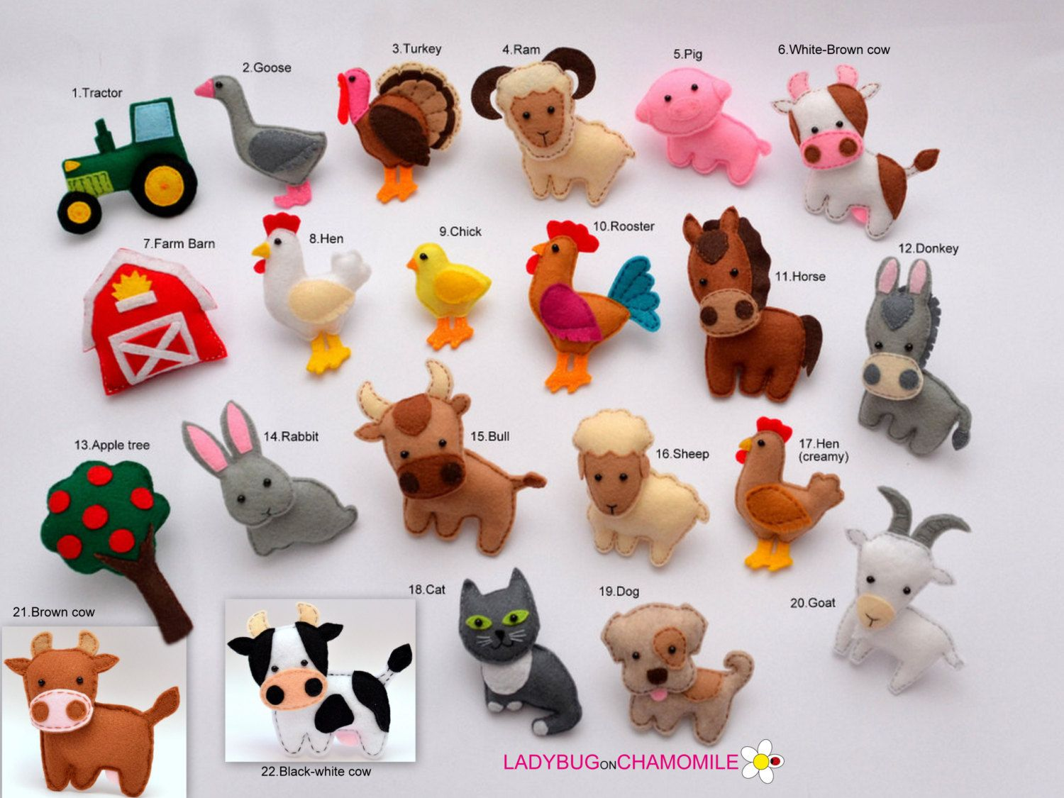 AFRICAN SAFARI ANIMALS felt magnets, the first part - Price per 1 ...