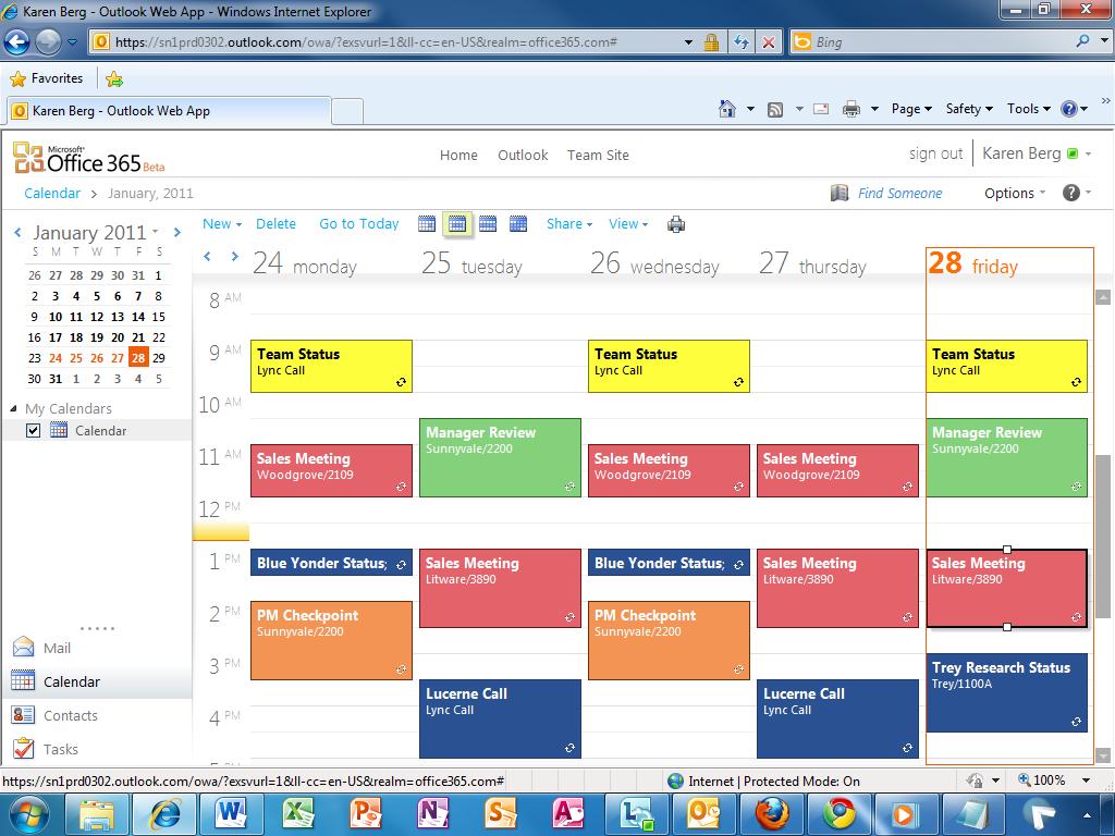 calendars in microsoft office
