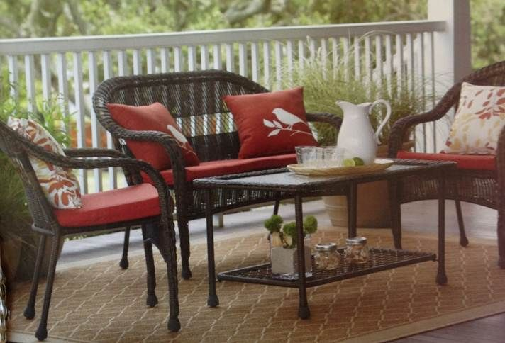 Garden Treasures 4 Piece Severson Conversation Set 298 Includes Two Chairs Loveseat