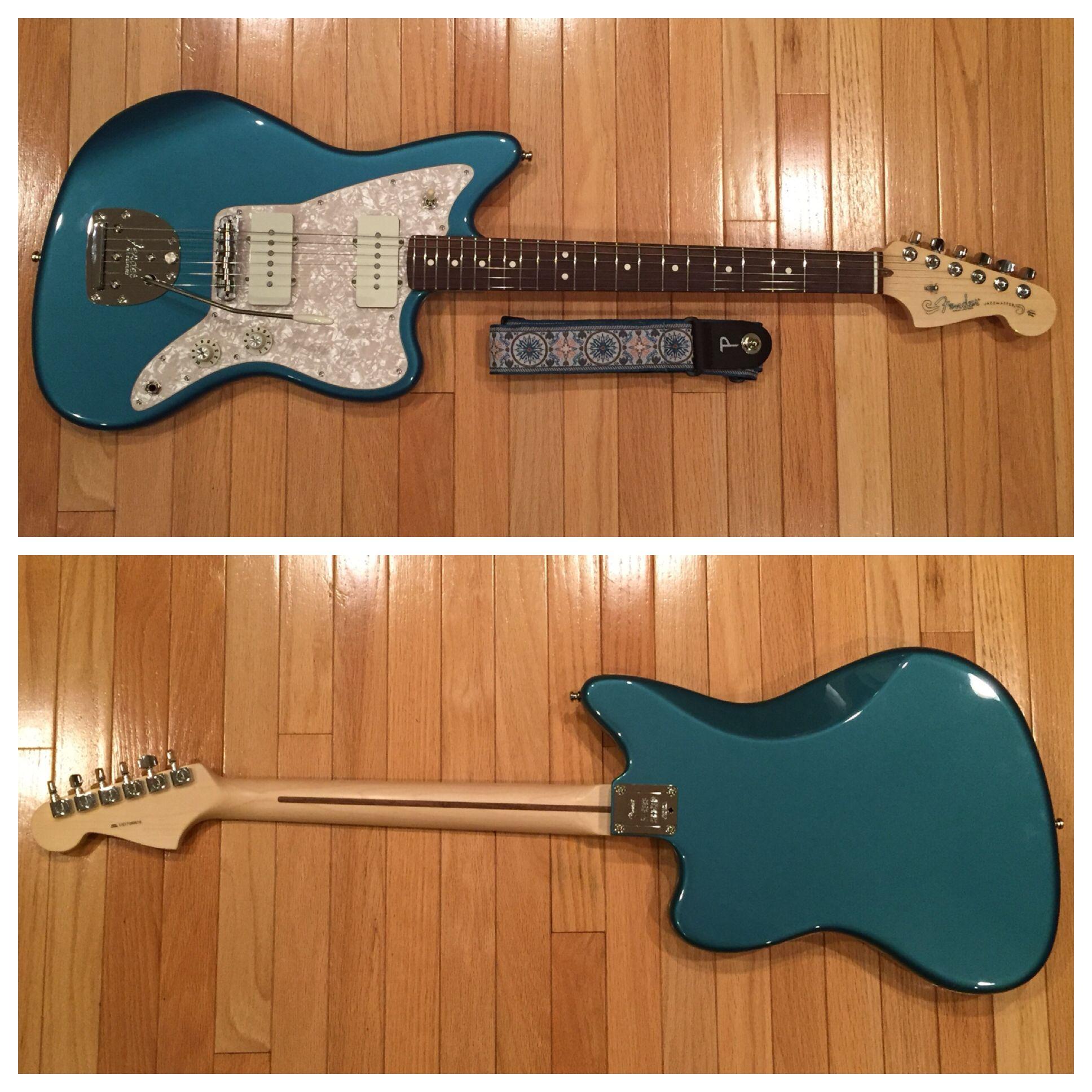 Fender MOD Shop Pure Vintage \'65 Jazzmaster Electric Guitar in Ocean ...
