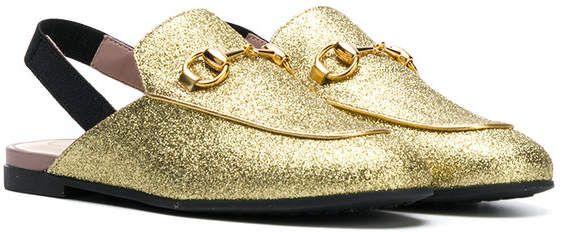 83672c656b Gucci Kids Princetown glitter slippers | kids shoes in 2019 | Gucci ...