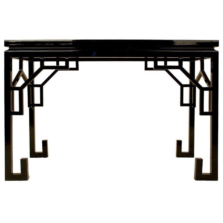 Console By Maison Jansen Circa 1970 1stdibs Com Chinoiserie Furniture Asian Interior Design Chinese Decor