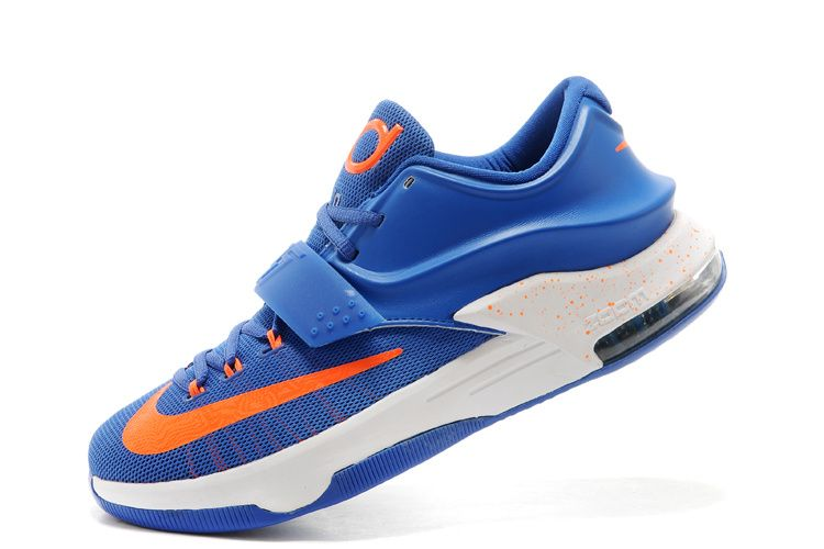 a68f2636ff6a Nike Kevin Durant KD 7 (VII) Royal Blue White-Orange For Sale