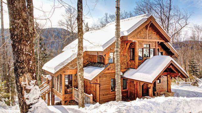 Maison de r ve cabane au canada ext rieurs house styles house et cabin - Maisons canadiennes ...