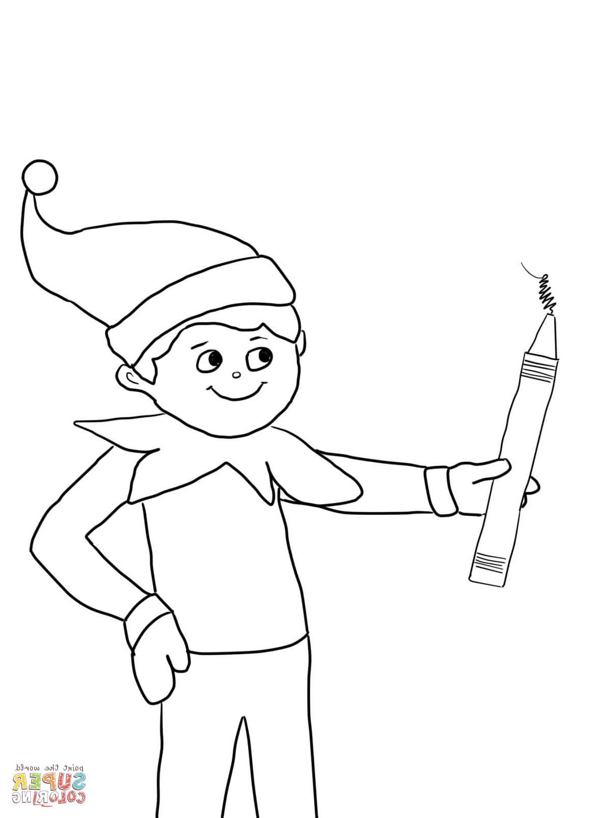 24 Unique Collection Of Elf On The Shelf Coloring Sheet