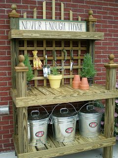 A Touch Of Fall Pallet Garden Benches Potting Bench Plans