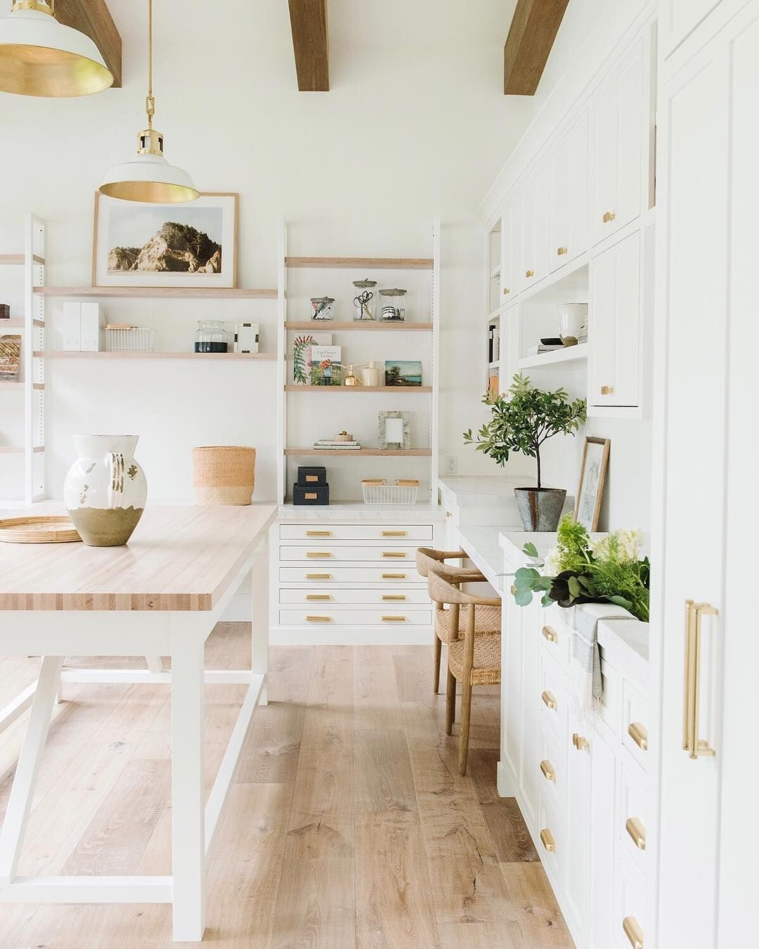 Studio Mcgee On Instagram It S The Craft Room To End All Craft Rooms With A Sink All The Storage Plenty Of W Craft Room Design Craft Room Modern Room