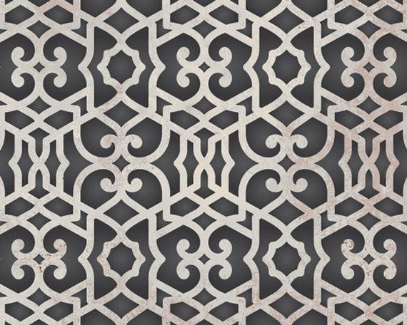 motif de pochoir mural treillis marocain par. Black Bedroom Furniture Sets. Home Design Ideas